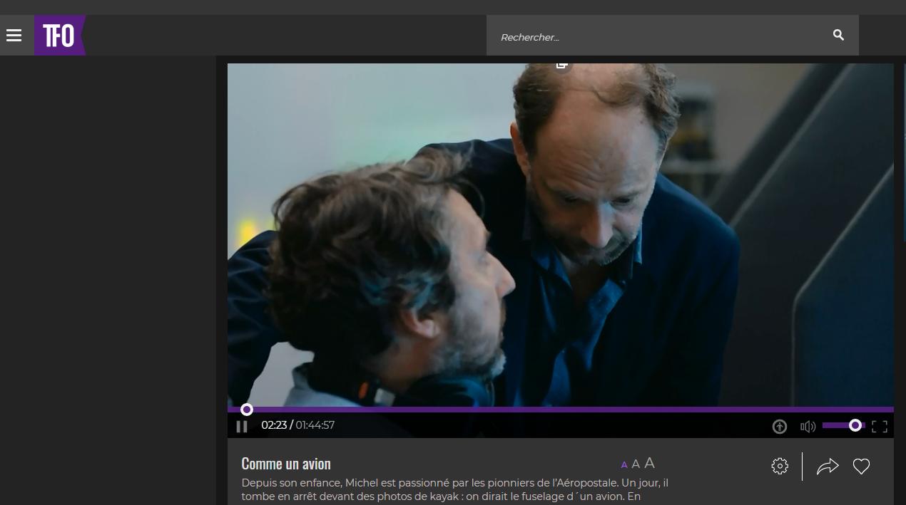 diffusion film en français sur TFO
