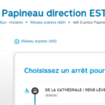 Société de Transport de Montréal (STM) Autobus 445 Express Papineau direction EST