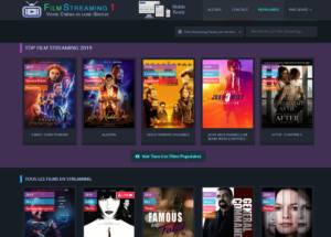 film streaming 1, plateforme qui se dit gratuite de streaming