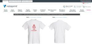 Service de conception de t-shirt personnalisé de Vistaprint