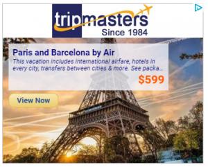 Paris et Barcelone à $599