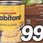 Aubaine vedette de la semaine: Soupe Habitant, 0,99$