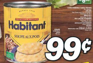 Aubaine vedette soupe Habitant