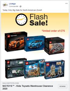 Facebook complice de fraude sur la vente de blocs LEGO?