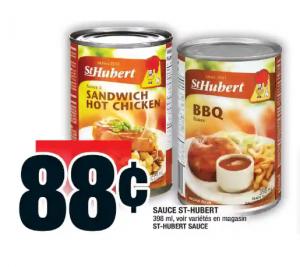 sauce St-Hubert à 88 cents chez Super C