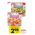 Aubaine vedette de la semaine: pizza Ristorante à 2,98$ au Tigre Géant