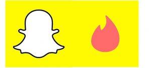 Tinder et Snapchat